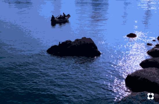 azzurro in controluce - Siracusa (1125 clic)