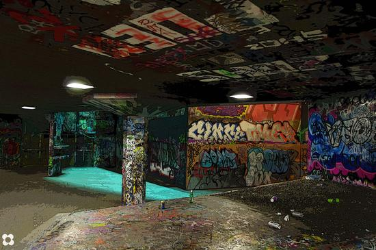 skateboard, pista deserta (625 clic)