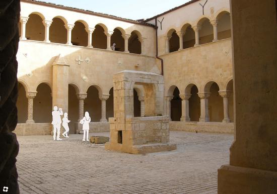 Santa Maria del Gesù, il chiostro  - Modica (2928 clic)