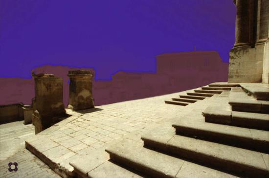 San Giovanni, scalinata particolare   - Modica (754 clic)