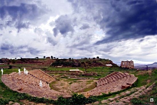 il teatro IV secolo a.C. - Morgantina (2657 clic)
