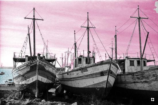 pescherecci al tramonto - Portopalo di capo passero (2547 clic)