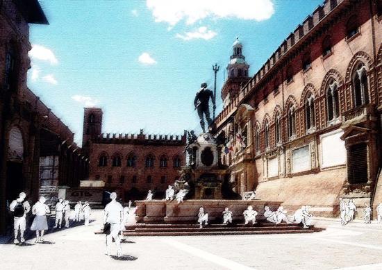 all'ombra della Fontana in un pomeriggio d'estate - Bologna (2116 clic)