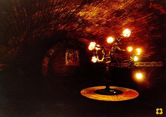 Codornìu, Spagna, Casa Vinicola albero genialogico di famiglia, in uno dei tanti tunnel visitati  (684 clic)