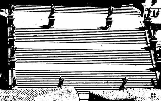 San Pietro, scalinata e santoni - Modica (2000 clic)