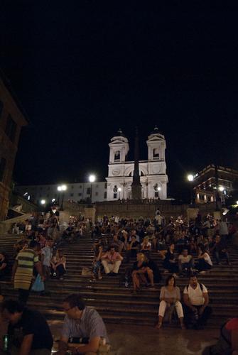 Piazza di Spagna Trinità dei Monti - Roma (2075 clic)