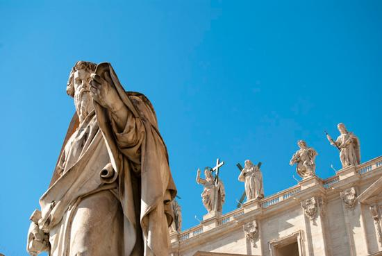 Statue San Pietro Città del Vaticano - Roma (4282 clic)
