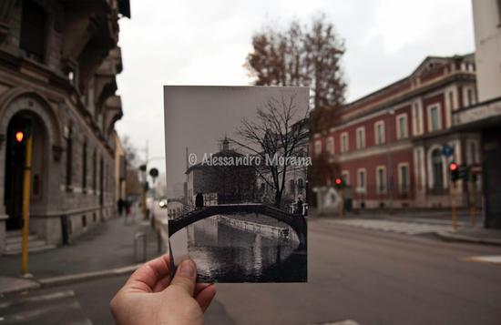 Milano angolo Via Sforza Via Laghetto (3955 clic)