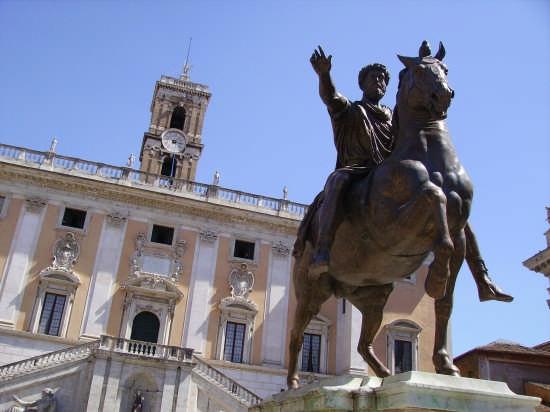 Piazza del Campidoglio - Roma (2562 clic)