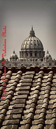 Il Cupolone visto dai tetti - Roma (1340 clic)