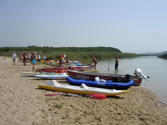 risalita fiume platani in canoa - Agrigento (5391 clic)