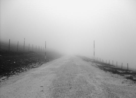 Salita nebbiosa sul Monte Catria - Frontone (2326 clic)