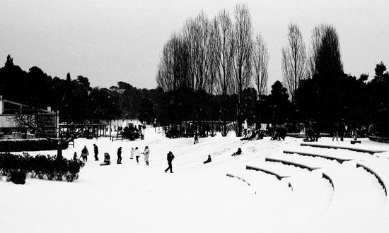 Neve al parco Miralfiore. - Pesaro (2007 clic)