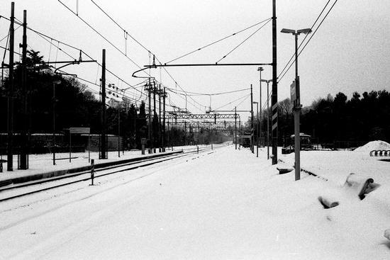 Ferrovia e neve. - Pesaro (1672 clic)