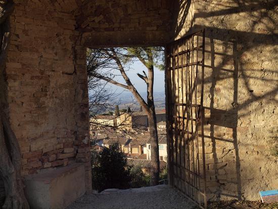 cancello aperto verso la campagna - San gimignano (2367 clic)