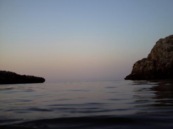Tramonto e mare calmo - Polignano a mare (1640 clic)