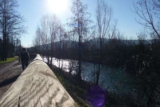 Passeggiata sul fiume - Villa (1070 clic)