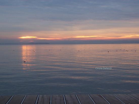 TRAMONTO INVERNALE A BARDOLINO - Winter sunset in Bardolino (2205 clic)