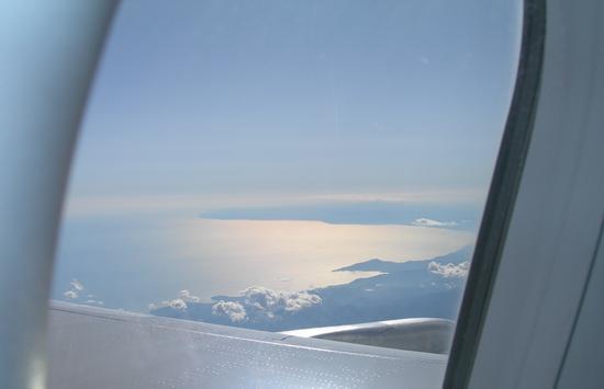 Golfo del Tigullio e golfo di Genova, dall'aereo - Lavagna (3215 clic)
