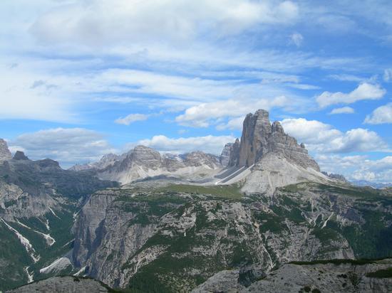 le Tre Cime di lavaredo, viste dal monte Piana - Auronzo di cadore (3158 clic)