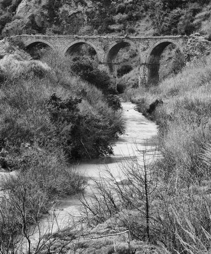 Scorcio fiume e archi a Nicosia (EN) (2433 clic)