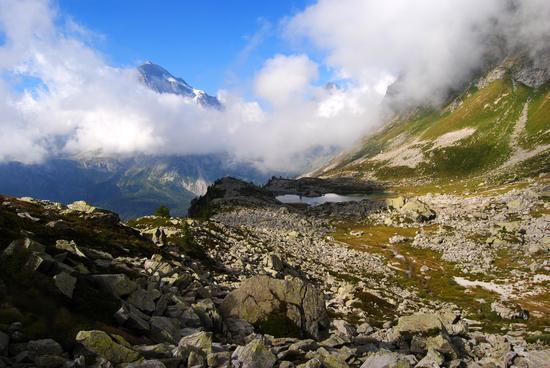 il lago del Bianco ed il Monte Leone - Val d'ossola (1329 clic)