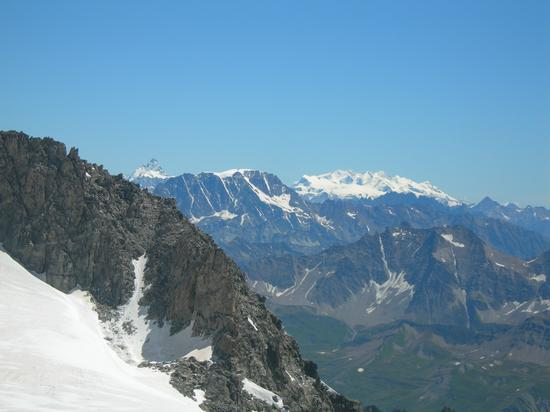 Cervino e Monte Rosa, da Punta Helbronner - Courmayeur (4586 clic)