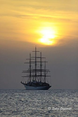Galeone al tramonto - Eolie (2552 clic)