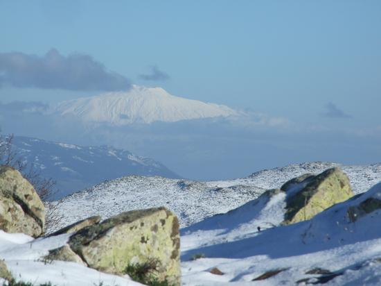 Etna visto da Pizzo Di Fao 1530 metri - Petralia sottana (1731 clic)