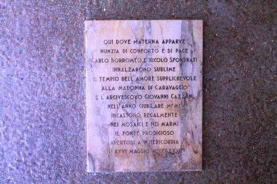 SACRO FONTE DI CARAVAGGIO (1446 clic)