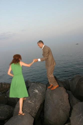 Tramonto sulle rocce Fra mare e cielo - Giarre (3445 clic)