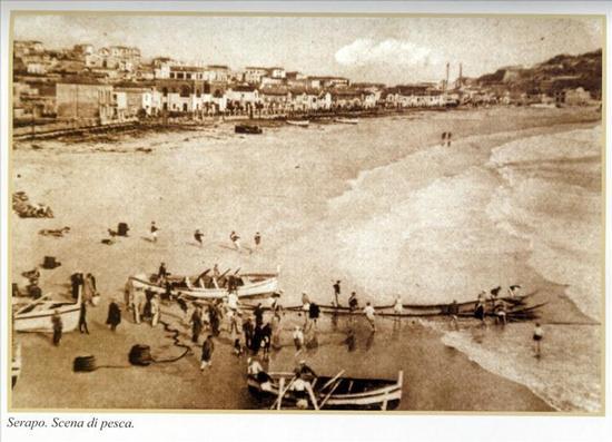 Spiaggia di Serapo - 1920 circa - Gaeta (3572 clic)