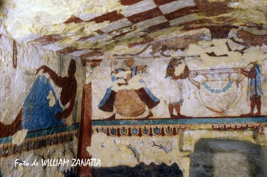 Tomba etrusca - Tarquinia (1528 clic)