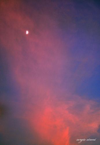 Luna tra le nuvole - Rovereto (1831 clic)