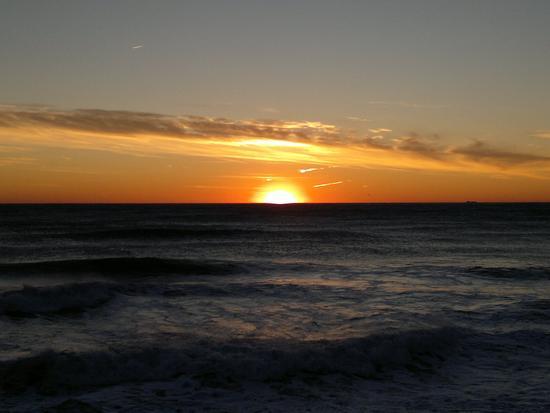 Mareggiata e tramontana a Levanto (2183 clic)