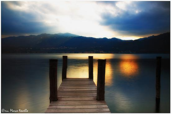 Pontile al tramonto... - Orta san giulio (2640 clic)