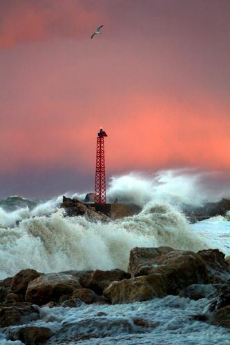 Mare in burrasca - Numana (4136 clic)