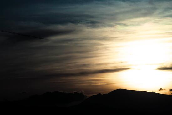 the mountain's silhouette - Roseto degli abruzzi (1616 clic)