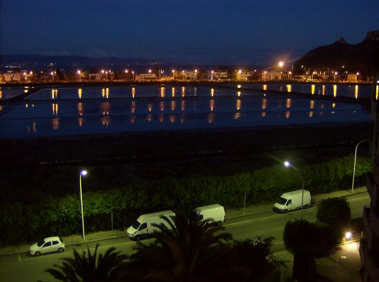 Notturno su Lo Stagno di Molentargius - Cagliari (829 clic)