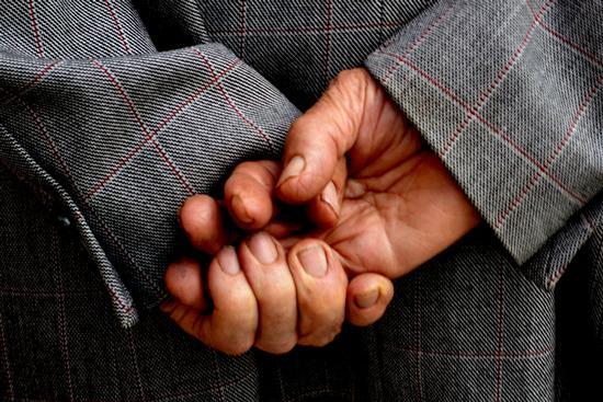 Le mani di un partigiano. (571 clic)