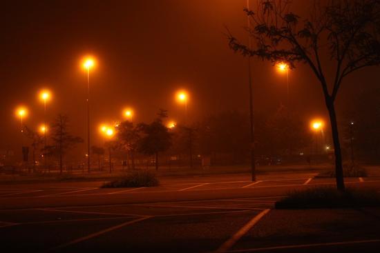 Nebbia nel parcheggio - Pontedera (1028 clic)