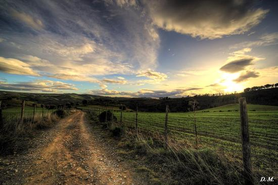 Il sentiero che ti porta al tramonto. - Caltanissetta (6318 clic)