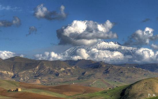 Etna innevata  - Catenanuova (736 clic)