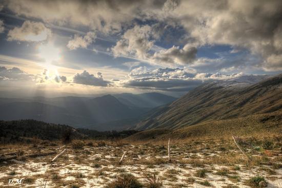 Tramonto sulle montagne di Piano Battaglia (PA) (1051 clic)