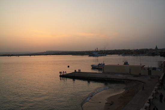 tramonto a Ortigia - Marina di noto (1700 clic)