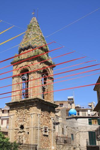 Campanile chiesa SIGNORE DELL'OLMO - Mazzarino (2125 clic)