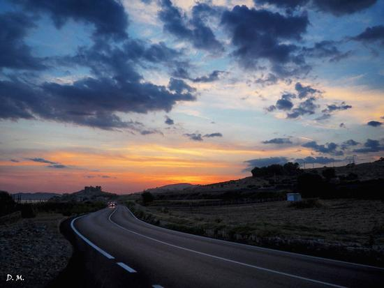 Tramonto lungo la strada per Licata (AG) (976 clic)
