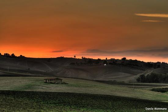 Tramonto in campagna - Caltanissetta (554 clic)