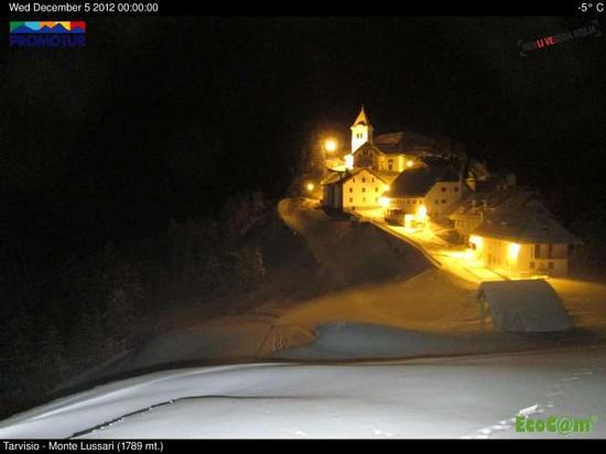 Monte Lussari, foto di mezzanotte - Tarvisio (2160 clic)