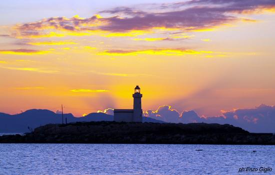 Faro al tramonto - Trapani (2726 clic)